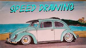 volkswagen old van drawing volkswagen beetle speed drawing youtube