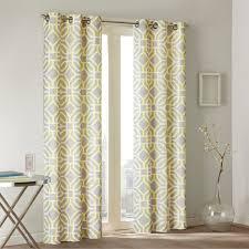 Designer Window Treatments by Amazon Com Maci Window Curtain Yellow 84