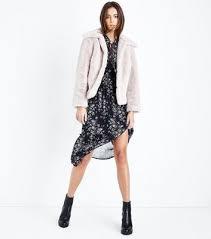 parisian pink faux fur coat new look bluewater 69 99