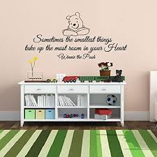 Removable Wall Decals For Nursery Free Shipping Creative Smiling Winnie The Pooh Baby Quote Wall