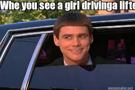 Lifted Truck Meme - meme maker whe you see a girl drivinga lifted truck