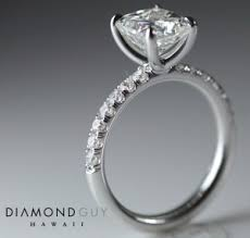 Custom Wedding Rings by 2ct Radiant Custom Engagement Ring Diamond Guy Hawaii