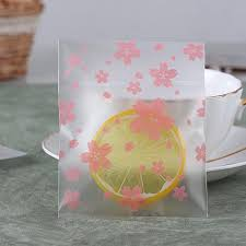 blossoms candy 50pcs lot pink clear cherry blossoms candy bag cookie biscuits