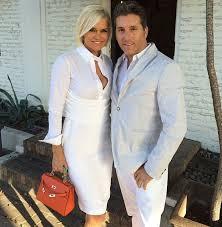 yolanda clothing off housewives yolanda foster s white shirt dress on instagram big blonde hair