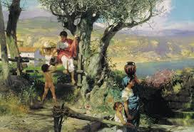 ancient rome in a village c 1880 henryk siemiradzki wikiart org