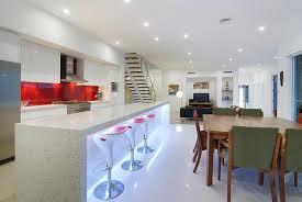 Galley Kitchen With Island Layout Landscape Kitchen White Kitchen Cabinets Quartz Countertops
