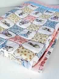 vintage precious moments handmade cotton quilt nursery baby