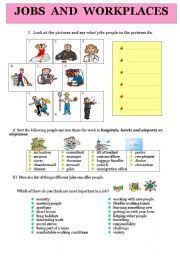 english teaching worksheets workplaces