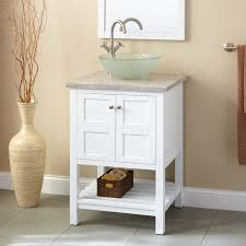 Everett Vessel Sink Vanity White Bathroom - White vanities for bathrooms