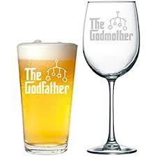 godmother wine glass will you be my godfather and godmother engraved