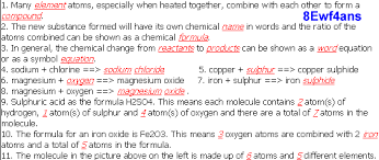 answers for 8e atoms and elements ks3 chemistry ks3 science