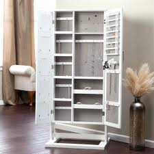 Computer Cabinet Armoire by Armoire With Hanging Space Top Wall Jewelry Cabinet On Mount