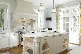 No Upper Kitchen Cabinets Kitchen Island In Cottage Kitchen