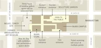 new museum floor plan ambitious redesign of moma doesn t spare a notable neighbor the