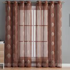 Drapes With Grommets Hlc Me Jennifer Nature Floral Sheer Grommet Curtain Panels