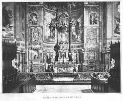 Screen Decoration At Back Of Altar Catholic Encyclopedia History Of The Christian Altar