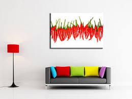 tableau de cuisine moderne tableau décoration cuisine moderne toile imprimée déco piment