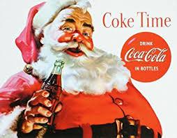 santa claus coca cola coke santa claus christmas tin sign 13 x 16in
