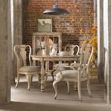 hooker dining room table hooker furniture wakefield five piece round leg table splatback