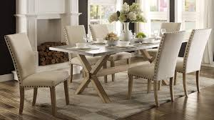 Hank Cocas by Luella Cool Weathered Oak Zinc Top Dining Room Set House Likes