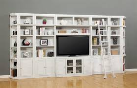 White Cottage Bookcase by Boca Outside Corner Bookcase In Cottage White Finish By Parker