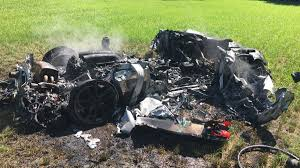 worst bugatti crashes ferrari 430 scuderia destroyed in bizarre motorway crash