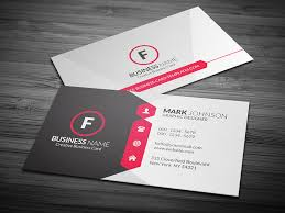 business card attractive modern corporate business card template free