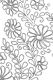 mexican floral yoke embroidery pattern