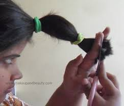 rusk ponytail method pictures how to cut your own hair in layers makeupandbeauty com