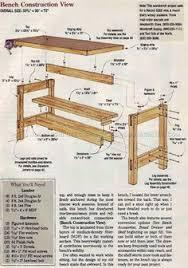 3178 garage bench plans workshop solutions bricolage