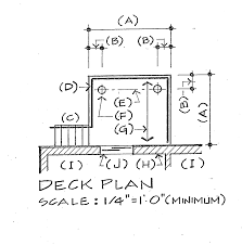 deck floor plan deck floor plan requirements