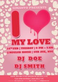 free valentine party flyer template psd free psd vector icons