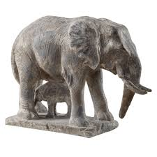 elephant family sculpture santa barbara modern home