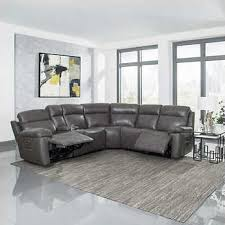 Gray Leather Sofa Cortez Premium Top Grain Gray Leather Reclining Sectional Sofa For