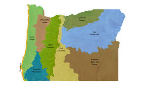 Oregon Beaches Map by Ecoregions Oregon Conservation Strategy