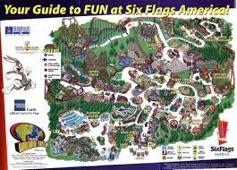 Six Flags Tickets Maryland Sfa Map 2003 Jpg