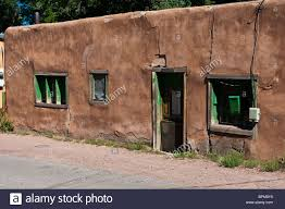 new mexico house old adobe house in santa fe new mexico on canyon road stock photo