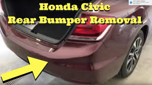 honda civic rear 2012 2013 2014 2015 honda civic rear bumper removal install