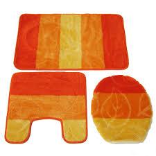 Yellow Bathroom Rugs Orange Bath Rug Set Rug Designs