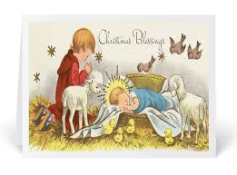vintage 1950 s nativity card 36516 harrison