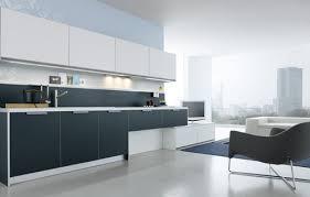 modern white and gray kitchen interior design