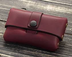 Business Card Case Leather Leather Business Card Holder Etsy