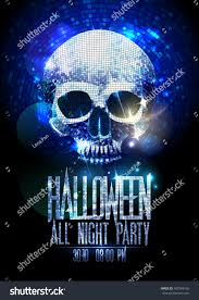 fashion halloween party poster silver sparkles stock vector