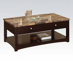 espresso wood coffee table jas espresso faux marble wood coffee table w lift top acme