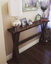 rustic farmhouse entryway table sofa table buffet table by