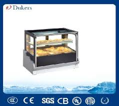 table top cooler for food standing table top flat glass display cake cooler manufacturers and