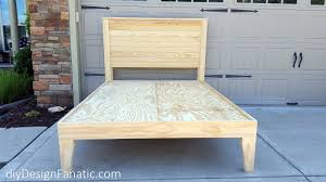 diy design fanatic how to make a farmhouse bed
