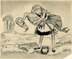 vintage disney alice wonderland david hall story drawing