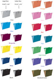 Legal Letter Size by Pendaflex Essentials Esselte Oxford Colored Hanging File Folders