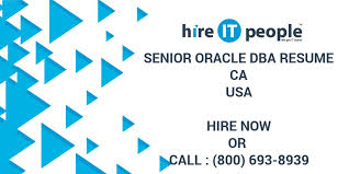 senior oracle dba resume ca hire it people we get it done